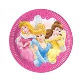 10 Adet 23 Santim Prenses Fairytale Kağıt Tabak