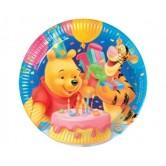 10 Adet 23 Santim Winnie Doğum Günü Kağıt Tabak