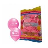 100lü 12 İnç Seni Seviyorum Baskılı Pembe Balon