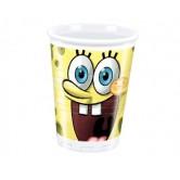 10 Adet 180/200cc Sponge Bob Party Plastik Bardak