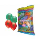 12 İnç 1+1 İyiki Doğdun Baskılı Karışık Pastel Renk Balon