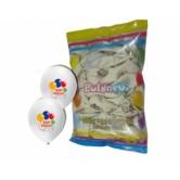 12 inç 4+0 Happy Birthday Baskılı Karışık Pastel Renk Balon
