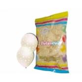 12 inç Çepeçevre Beyaz Yıldız Baskılı Karışık Pastel Renk Balon