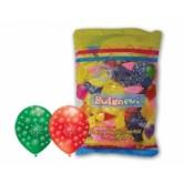 12 inç Çepeçevre Havai Fişek Baskılı Karışık Pastel Renk Balon