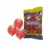 12 İnç Çepeçevre I Love You Baskılı Kırmızı Renk Balon