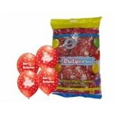 12 İnç Çepeçevre Seni Seviyorum Baskılı Kırmızı Renk Balon