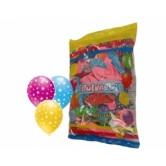 12 İnç Çepeçevre Yıldız Baskılı Karışık Pastel Renk Balon