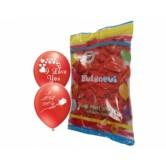 12 İnç I Love You Baskılı Kırmızı Balon
