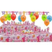 16 Kişilik First Birthday Pink Süper Set