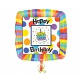 18 inç Big Dots Birthday Folyo Balon