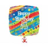 18 inç Happy Birthday From All Of Us Folyo Balon