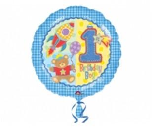 18 İnç Huhs Ve Stitches Boy Folyo Balon