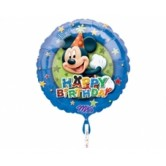 18 İnç Mickey Birthday Stars Folyo Balon
