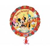 18 inç Mickey Ve Arkadaşları Birthday Folyo Balon