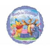 18 İnç Winnie The Pooh Ve Arkadaşları Birthday Folyo Balon