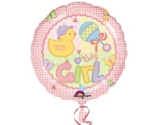 18 İnç Huhs Ve Stitches Girl Folyo Balon