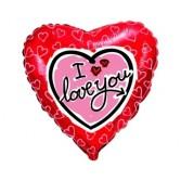18 inç Love Hearts I Love You Folyo Balon