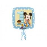 18 inç Mickey 1 Yaş Doğum Günü Paketli Folyo Balon