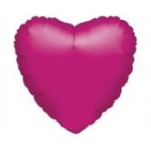 19 inç Fujya Renk Düz Kalp Folyo Balon