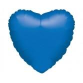 19 inç Mavi Renk Düz Kalp Folyo Balon