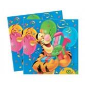 20 Adet 33X33 Santim Winnie Doğum Günü Kağıt Peçete