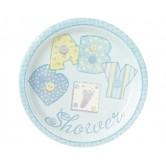 23 cm Boyutunda 8 tane Baby Blue Stitching Tabak