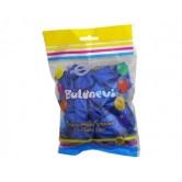 25li 12 inç Metalik Mavi Baskı Balon