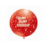 27 İnç 1li Happy Birthday Çepeçevre Baskılı Balon