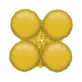 29.5 İnç 4lü Gold Düz Dekorasyon Folyo Balon