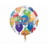 32 inç Ağırlıklı Birthday Balloons N Stars Folyo Balon