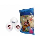4+1 Mickey Baskılı Şeffaf Renk Balon