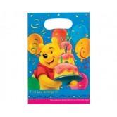 6 Adet Winnie Birthday Parti Çantası
