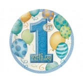 8 Adet 23 Santim First Birthday Balloons Blue Tabak