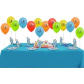 8 Kişilik First Birthday Blue Ekonomik Set