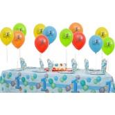 8 Kişilik First Birthday Blue Mini Set