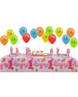 8 Kişilik First Birthday Pink Mini Set..