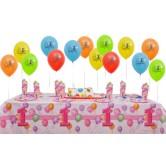 8 Kişilik First Birthday Pink Mini Set