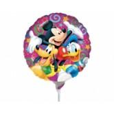 9 inç Disney Mickey ve Arkadaşları Kutlama Folyo Balon