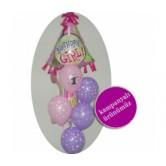 Happy Birthday Girl Uçan Balon Demeti