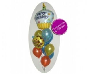 Happy Birthday Uçan Balon Demeti 3