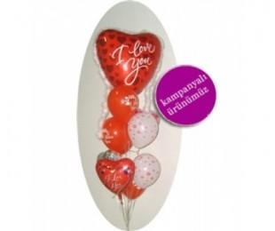 I Love You Uçan Balon Demeti 1