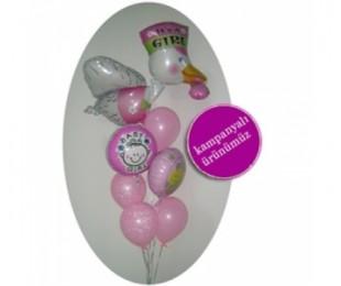 It's A Girl Uçan Balon Demeti 2
