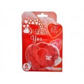 Kırmızı Renk I Love You Kalp Blister Balon