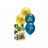 Sarı Lacivert 12 inç Taraftar Baskılı Balon