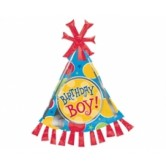 Supershape Birthday Boy Party Hat Folyo Balon