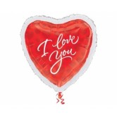 Supershape I Love You Marabou Folyo Balon