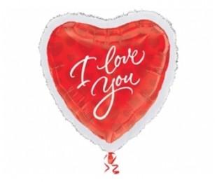 Supershape I Love You Marabou Folyo Balon