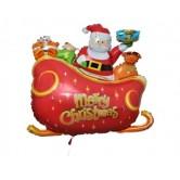 Supershape Noel Baba Kızağı Folyo Balon